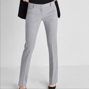 Express Women Columnist Dark Gray Dress Pants 4